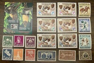 [Lot 334] 50 Different Mint/MH/MNH/MNG Worldwide Stamp Collection