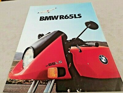 1981  BMW R65LS Motorcycle Original Sales Brochure
