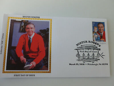 Mister Rogers 2018 Fdc Sc#5275 Colorano Silk Limited Ed. Cachet {Variety #1}