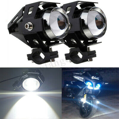 2Pcs 125W Motorcycle Motorbike LED U5 Headlight Driving Fog Spot Lights Lamp AU