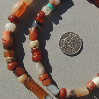 18 inch 46 cm strand selected ancient small and tiny agate beads mali #4097