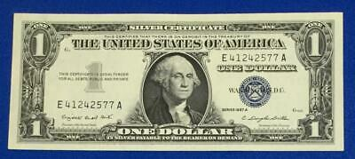 1957A $1 Blue SILVER Certificate Choice Crisp Uncirculated X577 Old US Currency