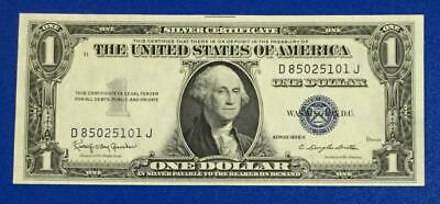 1935H $1 Blue Choice Crisp Unc SILVER Certificate x101 Old US Paper Currency