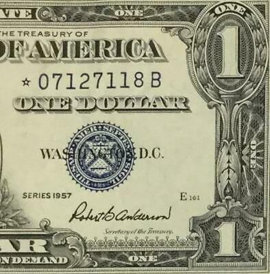 1957 $1 Blue SILVER Certificate Choice XF *** STAR *** X118! Old US Currency!