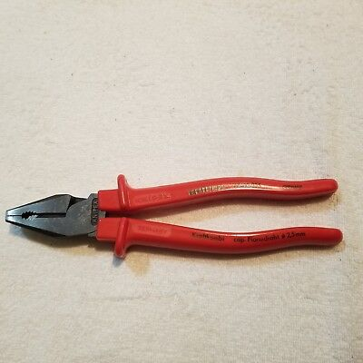Knipex 0202225SB High Leverage Combi Pliers 225 mm Multi Component Grip