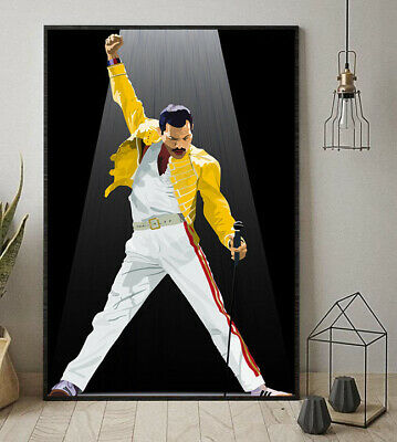 Freddie Mercury QUEEN We'll Rock You Portrait Poster No Frame US Supplier