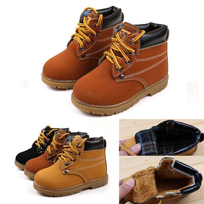 2019 Baby Kid Child Boys Girls Winter Casual Warm Ankle Snow Boots Fur Shoes Hot