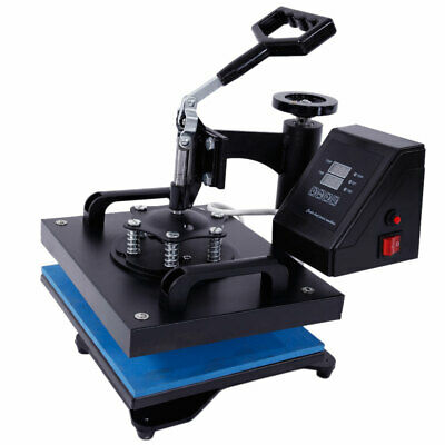 "12"" x 10"" 650W Transfer Sublimation DIY T-Shirt Rotary Heat Press Machine Black"