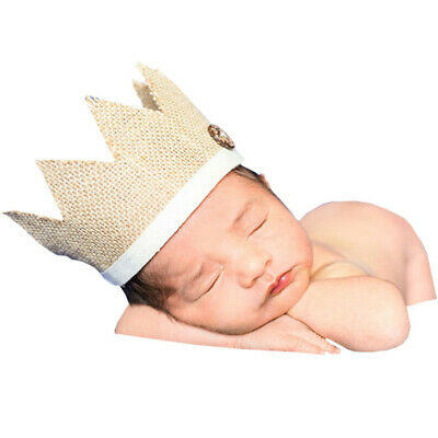 Chic Photography Props Crown Knit Headband Hat Baby Kids Headwear Newborn BS