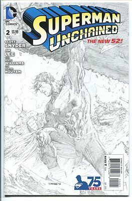 Superman Unchained #2 1:300 Sketch Variant Jim Lee Dc Comics 2015 Nm