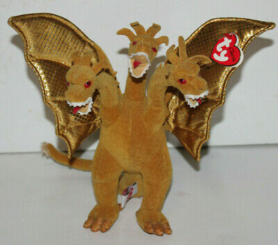 07d084de497 WOW Ty Classic 2001 KING GHIDORAH GODZILLA Japan Exclusive MONSTER Plush W   TAG