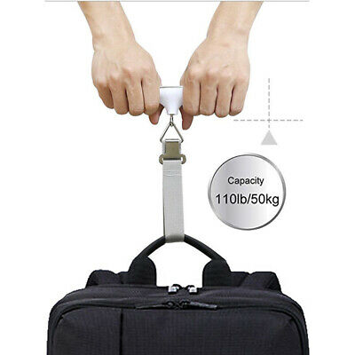 AU 50KG Digital Travel Portable Handheld Luggage Weighing Scales Suitcase Bag