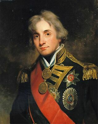Handmade Oil Painting repro George Peter Alexander Healy Admiral nelson