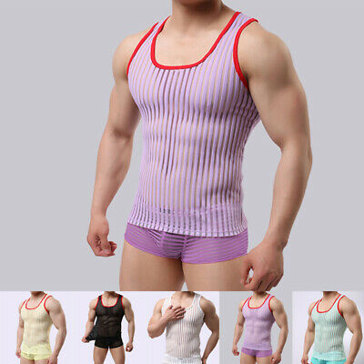 Hot Mens Male Casual Fitness Sport Running Gym Round Neck Sleeveless Tops Vest