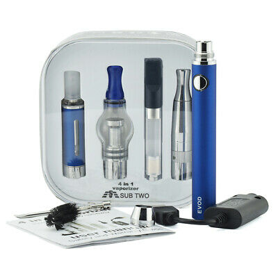 TOP 4 In 1 Vape Pen Batery with 4 Vaporizer-oil-Wax-Dry-Herb-1100mAh-Herbal