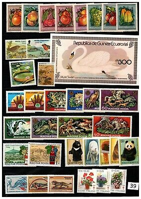 == Wholesale - Mnh - Birds, Flora