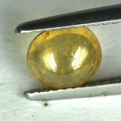 1.43 cts.7 x 6 mm.NATURAL CABOCHON YELLOW SAPPHIRE OVAL MADAGASCAR