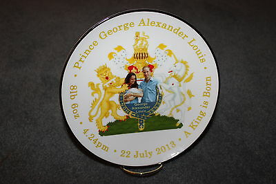 "Royal Baby Prince George Alexander Louis 8"" Display Plate/stand - NEW  MUST L@@K"