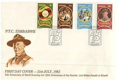 (SU 10) Zimbabwe FDC cover - 1982 - Lord Baden-Powell - Scouts