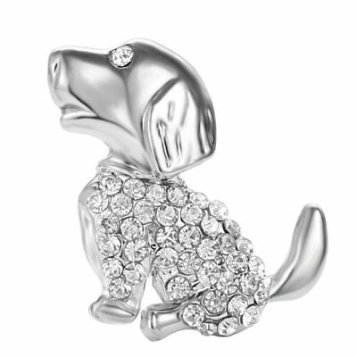 Fashion Charm Lovely Dog Animal Brooch Pins Charm Women Costume Jewelry Gifts