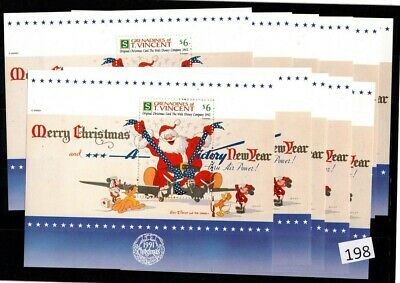 !! 11X St. Vincent - Mnh - Disney - Santa, Christmas, Airplane - Minor Defects