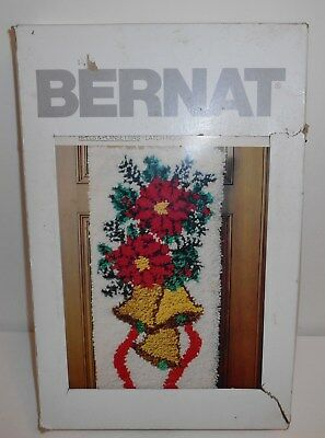 Bernat Holiday On The Wall Bells And Poinsettias Latch Hook 1979