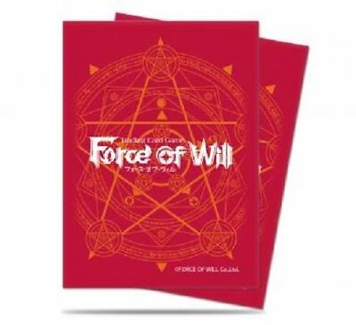 65 Ultra pro Force Of Will Deck Protector Mangas - Rojo Nuevo