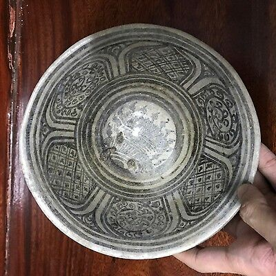 ANTIQUE  14thc  THAI SAWANKHOLAK  SUKHOTHAI   PETAL DESIGNED  BOWL