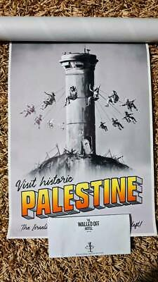 Banksy Palestine Poster Walled Off Hotel With Stamp And Receipt Limited Edition