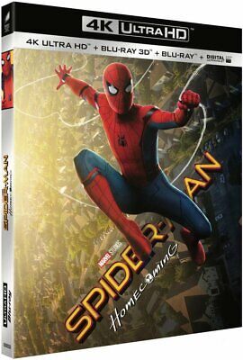 Spider-Man Homecoming 4K UHD + 3D Blu-ray 3-Disc multi language options