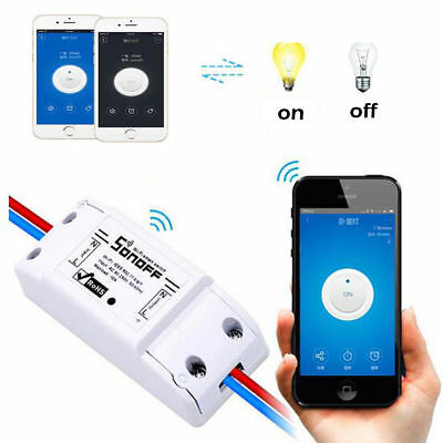 Remote Sonoff ITEAD WiFi Wireless Smart Switch Module Home ABS Socket for Phone
