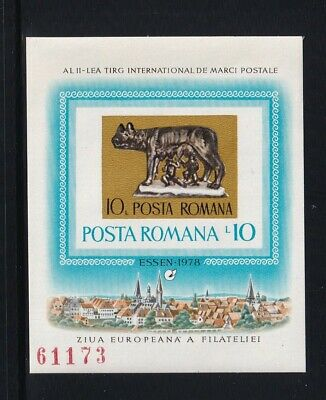 Romania Mint Imperforate Souvenir Sheet 1978 MNH CV$10