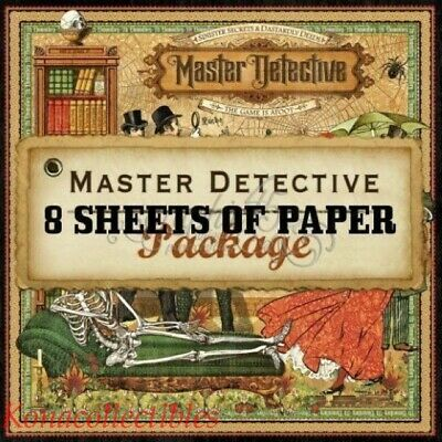 Graphic 45 Master Detective 12x12 Paper Collection 8 different  New! Halloween