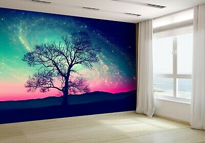 Landscape With Alone Tree at Night Wallpaper Mural Photo 43320772 budget paper