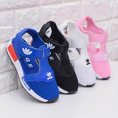 Kids Girls Boys Summer Close Toe Mesh Sandals Toddler Walk Sport Beach Shoes Hot