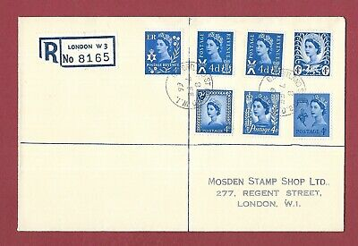 1966 REGISTERED FIRST DAY COVER - NEW REGIONAL 4d DEFINITIVES - SET 6 VALUES.