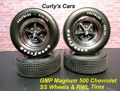 1:18 Scale Gmp Chevrolet Ss Magnum 500 Wheels & Raised White Letter Tires, New