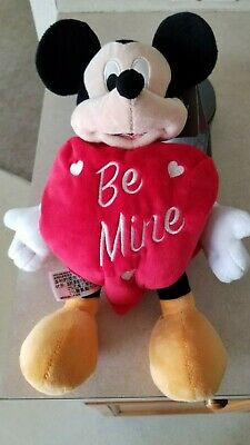 Disney Theme Parks 2019 Valentine's Day Mickey Mouse Be Mine Heart Plush - NWT