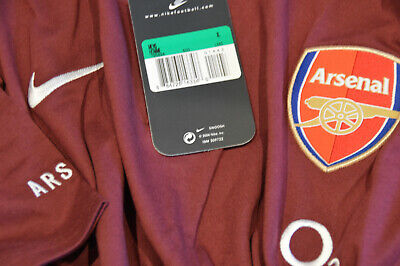 Arsenal Champions League 2006 Player Issue Nike Code 7 Travel Shirt XL BNWT