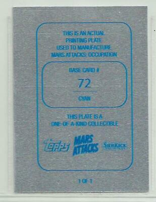2015 Topps Mars Attacks Occupation Cyan Printing Plate Base Card #72 1/1 Robot