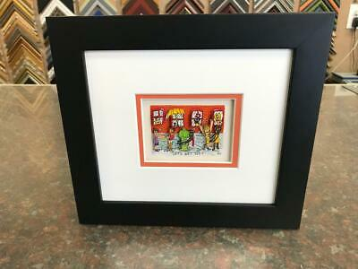 "James Rizzi 3-D "" Let's Get Wet  "" Signed & Numbered 1990 Mini Framed"