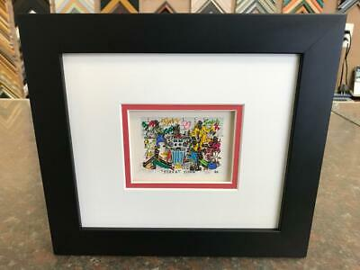 "James Rizzi 3-D "" Street Show "" Signed & Numbered 1990 Mini Framed"