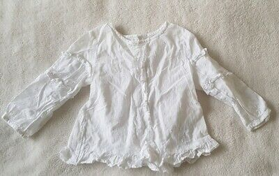 White Next Long Sleeve Top. Baby Girl. 12-18 Months