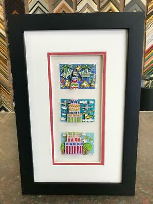 "James Rizzi 3-D "" Things Are Looking Up "" Signed & Numbered 1990 Mini Framed"