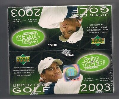 2002 2001 2003 Upper Deck GOLF Masters Champ TIGER WOODS 24 PACK BOX SEALED MINT