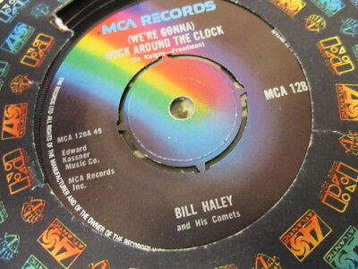 "Bill haley,rock around the clock,7"" single,great!,no reserve auction"
