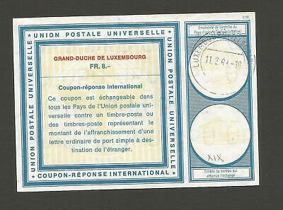 FEB 144 Luxembourg - UPU Coupon-Reponse International Vienna 1968 UNIQUE coupon