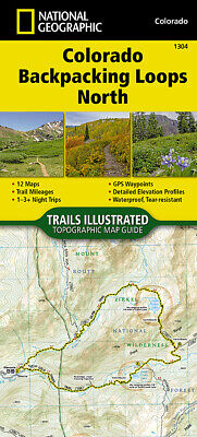 National Geographic Topo CO Colorado Backpack Loops North Topographic Map Guide