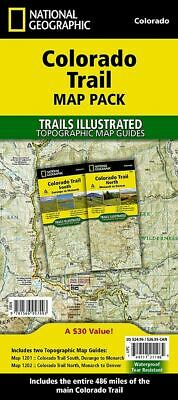 National Geographic TI CO Colorado Trail Topographic Map Guide Bundle Pack