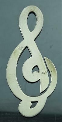 """Genuine Signed Tiffany & Co Sterling Silver 3"""" G Clef Bookmark Place Keeper Nr!"""